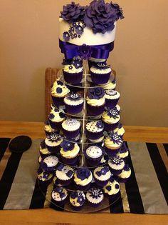 Purple Wedding Cupcakes Wedding Cupcakes And Purple Wedding On Pinterest