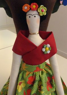 Boneca Tilda Frida Kahlo