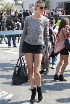 Karolina Kurkova in the Montgomery Cropped Sweater