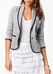 Exclusive Single Breasted Long Sleeve Woman Blazer