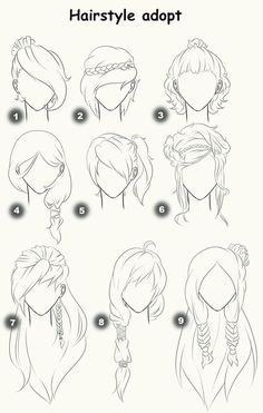Hairstyle adopts (CLOSED) by x3misteryYuyux3.deviantart.com on @deviantART: