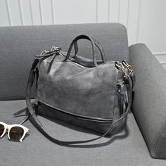 Nubuck Leather Vintage Messenger Bag - almaj A touch of Class - 5