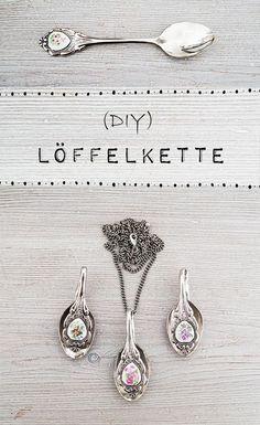 Ganz schön romantisch: Die DIY Löffelkette