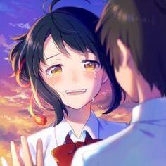 Mitsuha e Taki Kimi no Na wa 18 Otaku Anime, Manga Anime, Anime Films, Anime Characters, Anime Love, Mitsuha And Taki, Kimi No Na Wa Wallpaper, Humour Geek, Couple Manga