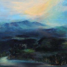 """Saatchi Online Artist: Rikka Ayasaki; Acrylic 2010 Painting """"mountain 5082 (Painted in 2010, 40x40cm)"""""""