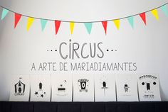 Equipments used in circus is described as simple illustrations on the paper.  So cute and creative.