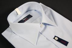 ea7e326d51231e Slim fit shirt ingram cottonstir thousand rows light blue. Product designed  and built in Italy
