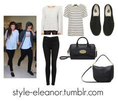 """""""Eleanor and Louis at JFK airport"""" by iloveeleanorcalder ❤ liked on Polyvore featuring SELECTED, Topshop, Vans, Mulberry, eleanor, eleanorcalder, eleanorcalderstyle and Eleanorstyle"""