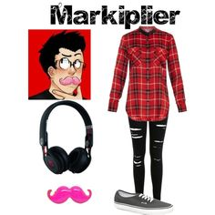Markiplier by superwholock-a7x on Polyvore featuring polyvore fashion style Vince Miss Selfridge Vans Beats by Dr. Dre