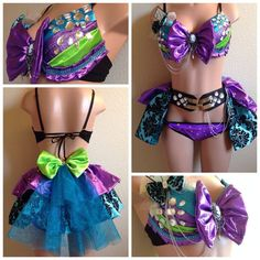 Mrs Mad Hatter Rave Outfit Costume Party Perfect by lipglosswear, $125.00
