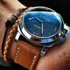 """womw: """"The art of a wearing our Oak Panerai Style Strap on his by bandrbands from Instagram http://ift.tt/1e0uKwy """""""