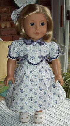1930s Frock fits American Girl dolls or 18 inch by ASewSewShop, $25.00
