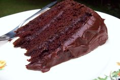 Wonderful chocolate cake recipe; bake 3 pans for18-19 min @ 375; use 2 milk chocolate frosting - <3, <3
