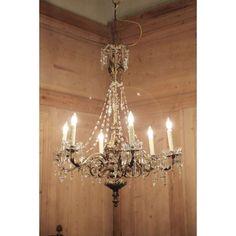 antique crystal chandeliers | Antique Baroque Bronze & Crystal Chandelier | Chandeliers | Inessa ...