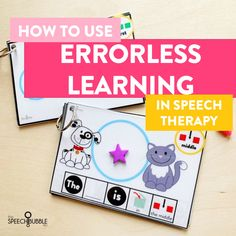 Errorless learning in Speech Therapy - The Speech Bubble