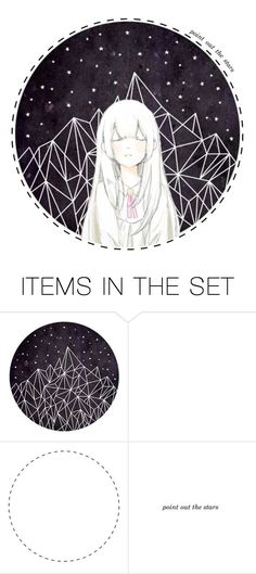 """""""point out the stars"""" by carebear-chan ❤ liked on Polyvore featuring art, anime, artset and artexpression"""