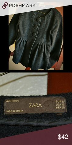 Zara 100% Wool Cardigan Peacoat Warm, yet super chic and totally classy! Reasonable offers considered! Please ask if you have any questions! Zara Jackets & Coats Pea Coats