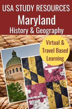 The Maryland Virtual Learning Mini-Course includes 12+ pages of assignment links and activities. These learning resources will help your kids learn everything there is to know about Maryland and have fun doing it. Get your download now. Geography For Kids, World Geography, Social Studies Activities, Learning Resources, Homeschool Curriculum, Homeschooling, Harriet Tubman Underground Railroad, Assateague Island National Seashore, Virtual Travel