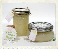 lemon sugar hand scrub - make it in minutes!