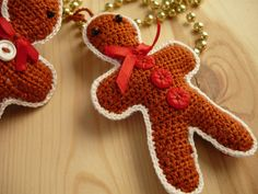 Crochet Gingerbread Man,Tree ornament,Holiday decorations,Holiday ornaments by MariAnnieArt on Etsy