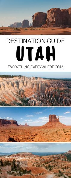 A guide to travel in Utah, a US state known for its national parks, road trip routes, and unique rock formations. Best parks to visit, including Bryce Canyon, Zion National Park, Monument Valley and more + practical tips for your trip. Travel in the USA. | Everything Everywhere Destination Guide