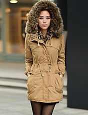 Women'S Woolen Collar Korea Style Slim Long C... – USD $ 46.79