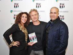 Hoofdredacteuren van De Kleurrijke Lijst #kleurrijke100 Raja Felgata en Khalid Ouaziz met programmadirecteur Erland Galjaard van RTL4