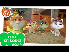 44 Cats | Season 2 - Granny Pina's birthday [FULL EPISODE]Several birds that were outside are welcomed into the house by the Buffycats, but they cause a series of funny disasters and literally turn the house upside down - just on Granny Pina's birthday!Watch 44 Cats on Nick everywhere!Visit the official 44 Cats show website at 44cats.tv to find out more about the show and its musical stars, as well as watch exclusive video clips, play pawesome games and download purr-tastic activities!More…