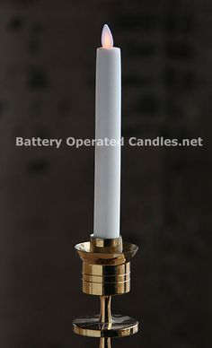 Check out the deal on 8 Inch Ivory Dancing Flame Battery Operated Taper Candle - Timer at Battery Operated Candles