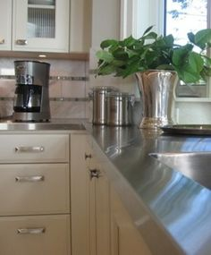 Stainless Steel   Kitchen Countertops 101   Bob Vila