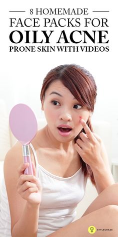 Homemade Face Packs For Oily Acne Prone Skin: Here I present 5 natural homemade face packs for acne. These face packs for acne and pimples will help you fade those unwanted spots. Do make sure you are not allergic to the ingredients before you try them!