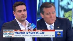 """A gay, """"lifelong Republican"""" confronted GOP presidential contender Sen. Ted Cruz on ABC's """"Good Morning America"""" Monday, inquiring how the Texas senator would, as president, protect him and his gay marriage of two years.  Todd Cologne, a New York pizza restaurant owner who said he's leaning toward voting..."""