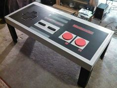 Nintendo table. See More at https://www.facebook.com/iloveoldschoolgames