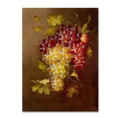 Still Life with Grapes by Rio Painting Print on Wrapped Canvas
