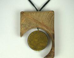 Items similar to ALLIUMS - Laser Cut Mahogany Wood Pendant on Etsy