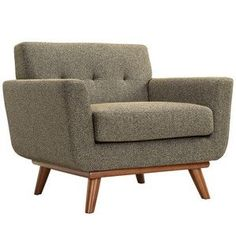 Modway Engage Sofa Loveseat and Armchair Set of 3 in Oatmeal