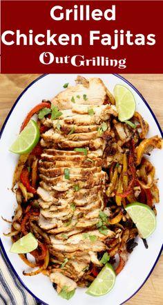 Chicken Fajitas Calories, Grilled Chicken Fajitas, Grilled Chicken Recipes, Thin Sliced Chicken, Smoked Chicken, Bbq Chicken, Turkey Recipes, Mexican Food Recipes, Healthy Recipes