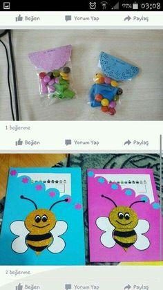 Preschool Color Activities, Preschool Activities, Bumble Bee Invitations, Diy For Kids, Crafts For Kids, Diy And Crafts, Paper Crafts, Creations, Decoration
