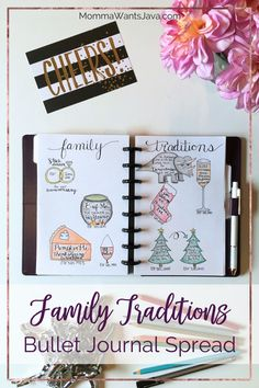 Your bullet journal is a great place to keep track of traditions, so why not make a family traditions bullet journal spread? Get ideas & inspiration here!