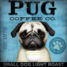 ☕Coffee♥Craft☕ #Pug dog #Coffee art #graphics