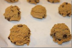 """Chocolate PB2 cookies. Sub whole wheat flour, subtract 1/2 of brown sugar for coconut sugar, no chocolate chips, and extra """"thick salt"""" - i used from a grinder"""