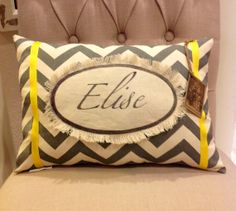Personalized pillow with name  12 X 18 by twotexascowgirls on Etsy, $22.50