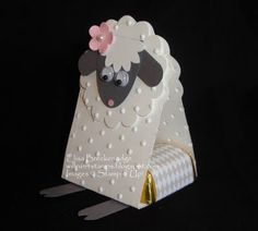 Sarah Pinyan posted Punch art Easter Lamb candy holder to her -Papercraft- postboard via the Juxtapost bookmarklet. Easter Lamb, Punch Art Cards, Diy Ostern, Candy Crafts, Treat Holder, Stamping Up, Spring Crafts, Baby Cards, Creative Cards