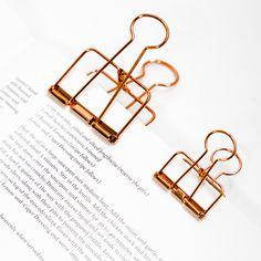 1 Unids Lindo Kawaii Foto Decorativa de Metal Clips de Papel de la Carpeta de Calidad Accesorios de Escritorio de Oficina de La Escuela Suministros de Oro Negro Se Levantó