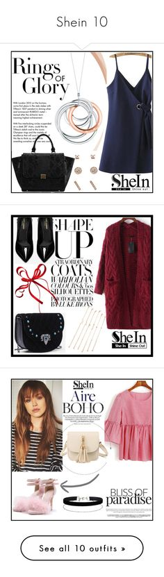 """""""Shein 10"""" by amra-f ❤ liked on Polyvore featuring Tiffany & Co., shein, Yves Saint Laurent, Miss Selfridge, MANGO, Victoria's Secret, Simons, Jessica Carlyle and Kate Spade"""