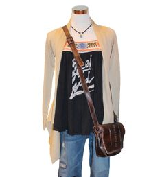 Ready for Spring! - cardigan, Free People We The Free Ana's Graphic Tee, Kut from the Kloth Catherine Boyfriend Patch jeans, Bed|Stu Frankie crossbody