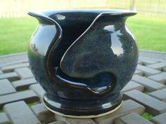 Petitie Denim Blue Yarn Bowl. $15.00, via Etsy.