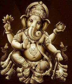 Ganesh... Whenever you see an ELEPHANT it means all obstacles will be removed from your path!