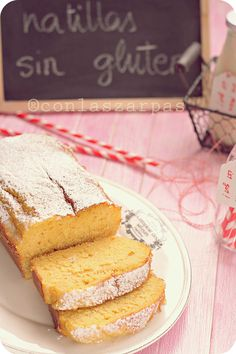 Custard cake gluten free - Spanish recipe but with English translation. They say to bake at but that actually means on this side of the water ; Gluten Free Sweets, Gluten Free Cakes, Gluten Free Cooking, Dairy Free Recipes, Muffins, Custard Cake, Foods With Gluten, Lactose Free, Let Them Eat Cake