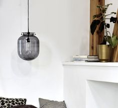 Suspension, Ball, gris, H35cm, Ø30cm - House Doctor - Luminaires Nedgis